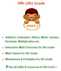KizMath 5th grade