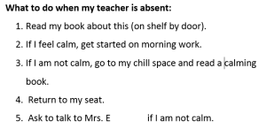 Plan for teacher absence