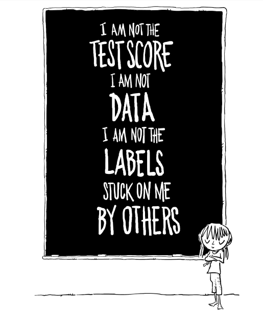 I am not the test score