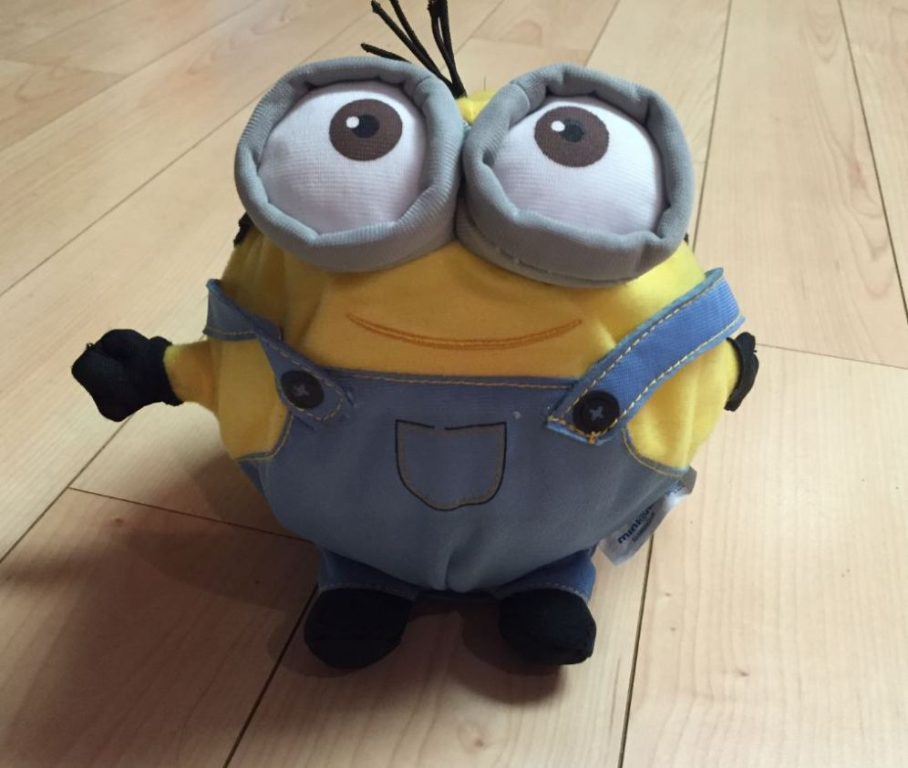 Minions are perfect for uncoordinated kids because they have so many edges to grab. Also, they don't roll as far, since we hardly ever catch him!