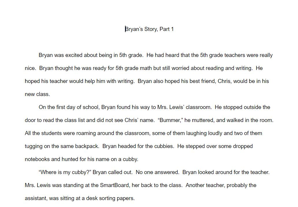 Brayn's story 1
